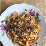 Tagliatelle Alla Bolognese in Bologna. A shortTagliatelle Alla Bolognese Recipe via @easyweeknightmeals #foodandtravel #recipe #bolognese